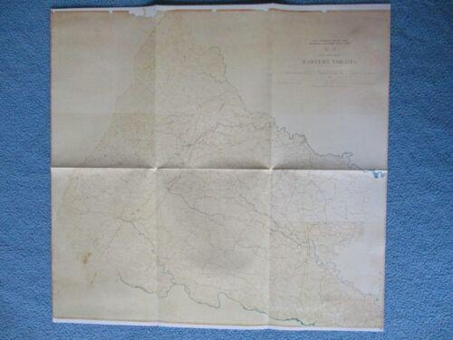 # Civil War Map - Confederate Map of Eastern Virginia, Richmond, Petersburg +