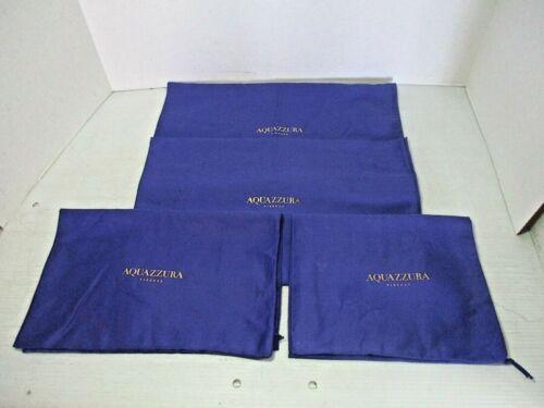4 Shoe / Purse DUST BAGS - AQUAZZURA  FIRENZE Drawstring Blue / Gold Pineapple
