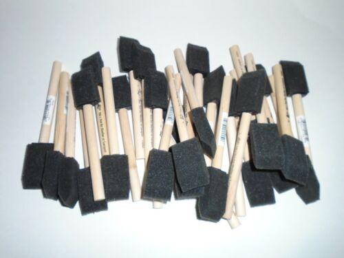 30 Wooden Handle Sponge Foam Paint Craft Brushes New