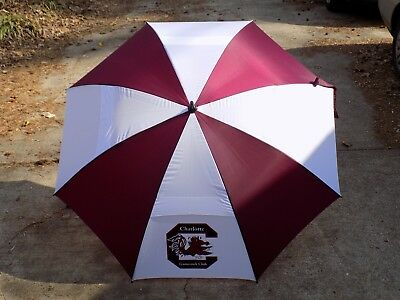 "Charlotte Gamecocks Club Haas Jordan 345 Hurricane 62"" Golf Umbrella by Westcott"