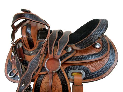 ARABIAN HORSE WESTERN SADDLE 16 15 PLEASURE HORSE TRAIL TOOLED LEATHER PACKAGE