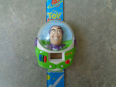 Retro Vtg Walt Disney Toy Story Movie Digital Wrist Watch Buzz Lightyear 1995