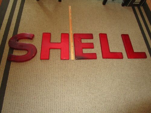 Shell Oil Gas Plastic Advertising Sign Letters