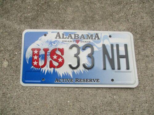 Alabama Active Reserve license plate  #  33  NH