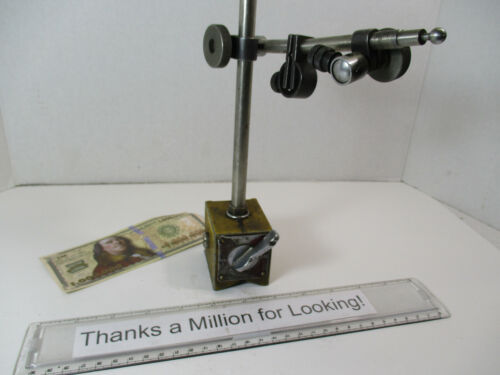 ENCO # 300 Magnetic Base Dial Indicator Holder Stand, Mag Base Holds Interapid
