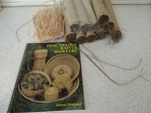 Pine Needle Basketry,  Raffia  and supplies