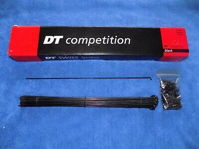 DT SWISS COMPETITION 2.0//1.8  291MM BLACK BICYCLE SPOKE--BOX OF 72