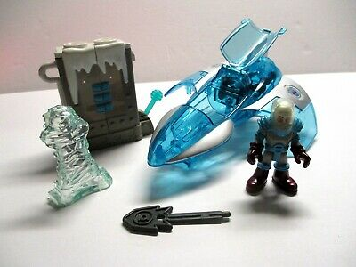 Fisher Price Imaginext Mr Freeze Figure Ice Blast Cover Chamber & Jet w' Weapon