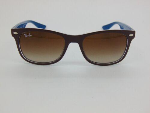 Ray Ban Jr. RJ 9052S 7035/13 New Wayfarer Matte Brown/Blue Kids Sunglasses