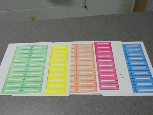 100 Mixed Color Blank Juke Box Labels Jukebox.    * FREE S&H *