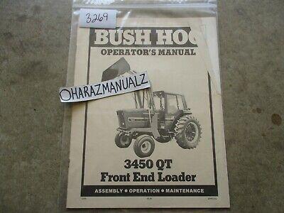 Bush Hog 3450 Qt Front End Loader Operators Manual