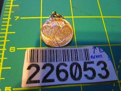 Mizpah Break Apart Coin Charm .925 Sterling Silver