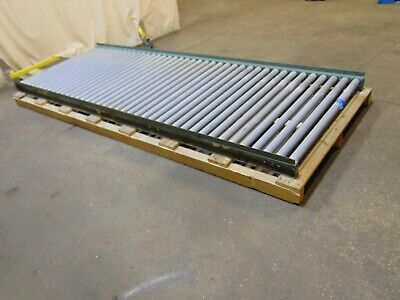 10 Section Of Wide Hytrol Gravity Roller Conveyor