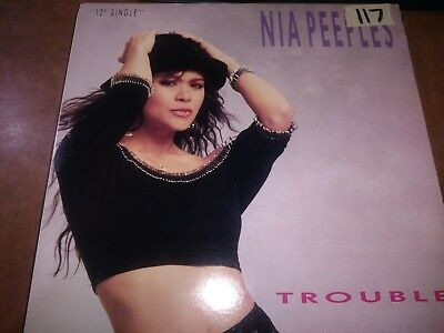 """Nia Peeples 'Trouble' Record 12"""" EP Vinyl"""