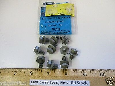 "10 PCS FORD 1976/89 FIESTA MKI/MKII, ESCORT MKIII ""SCREW & WASHER"", M6X12MM HEX"