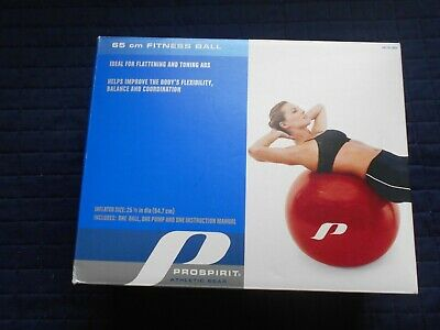 Prospirit Exercise Ball Air Pump&Instruction for Yoga Fitness Balance Toning ABS