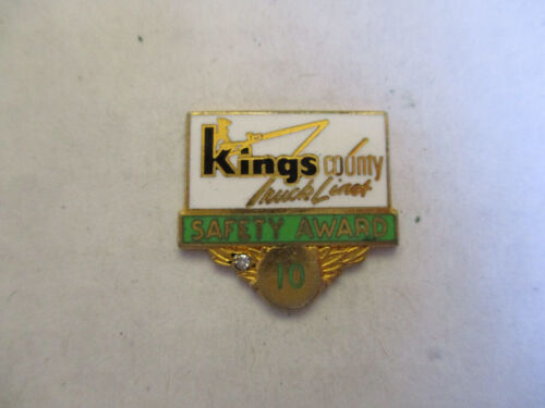 Kings Country Lines 10yr Trucking Truck Driver Employee Safety Award Pin
