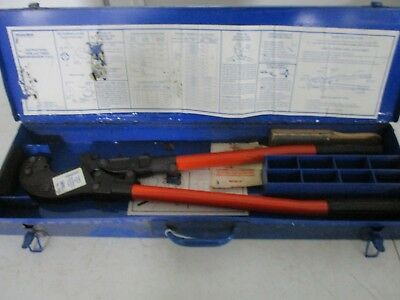 Thomas Betts Manual Crimper Tbm6 With Carrying Case Free Shipping