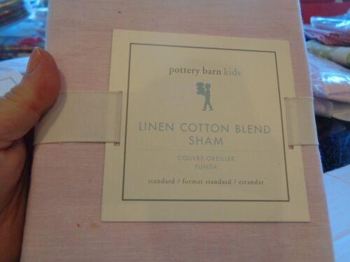 Pottery Barn Kids Linen cotton blend pink sham standard New