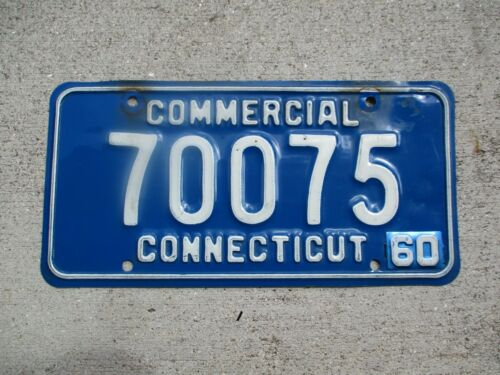 Connecticut 1960 Commercial license plate  #  70075