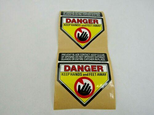 Danger Keep Hands & Feet Away -  DECALS PACK/2