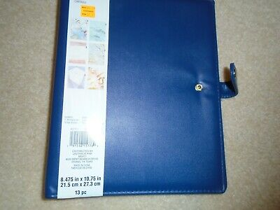 Brand New Recollections Planner Agenda Binder 6-rings Navy Classic Nip