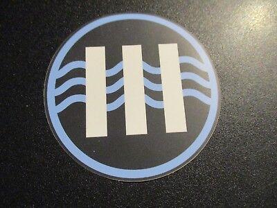 JACK WHITE Blue Black III Sticker LAZARETTO New Stripes Third Man Records Jack White Iii