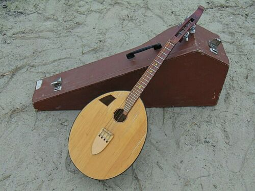 Kobza 4 string original Vintage Soviet Ukrainian Folk Instrument. ar Yakovishin