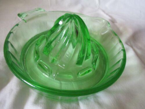 """Vintage Green Depression Glass Reamer Juicer 5""""Diameter"""