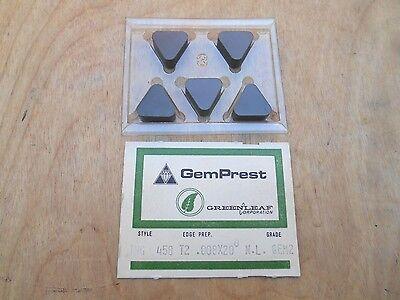 GREENLEAF CERAMIC INSERTS , TNG 458 , GEM2 , 5 INSERTS