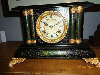 ANTIQUE WATERBURY MANTEL CLOCK - DUNRAVEN MODEL