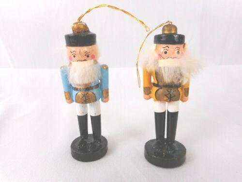 Lot of 2 Vintage Kurt Adler Wood Christmas Ornaments Nutcracker Soldiers