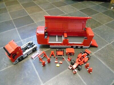 LEGO RACERS 8654 SCUDERIA FERRARI TRUCK COMPLETE NO BOX OR INSTRUCTIONS.