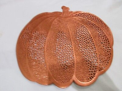 Fall Thanksgiving Halloween Vinyl Orange Pumpkin Placemats Decor Set of 4