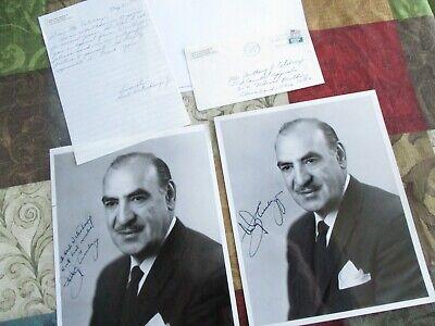 1972 (2) Anthony Celebrezze (Ohio Senator) Signed Photograph's