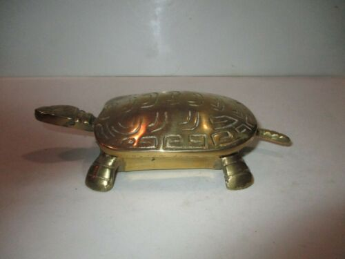 Brass Turtle with Hinged Lid