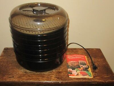 Ronco Food Dehydrator Beef Jerky Maker Machine 6 Trays Instruction Recipe Book