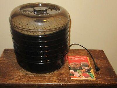 Ronco Food Dehydrator Beef Jerky Maker Machine 6 Trays Instruction Recipe Book