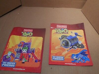 LOT OF 2 Fisher Price Trio Bricks, Sticks, & Panels Instruction Manual Only
