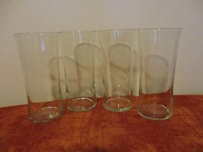 (Set of 4 Curved Glassware Drinking Glass Clear Tumbler Highball - 16 oz)
