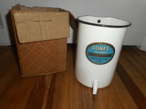 Vintage Enamel JONES Medical Hospital Surgical IRRIGATOR No 200 in BOX