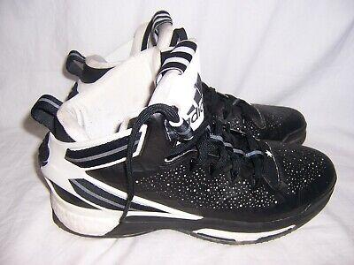 763408bbbcc6 2015 Adidas Boost Derrick D Rose Basketball Tennis Shoes Size 12 Black  White EUC