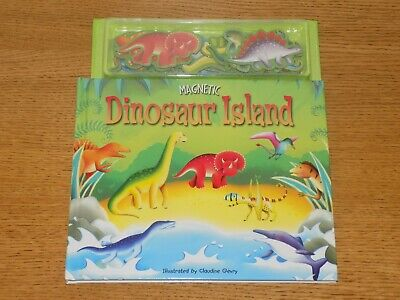 Dinosaur Island Magnetic Story Book And Play Scenes - BRAND NEW