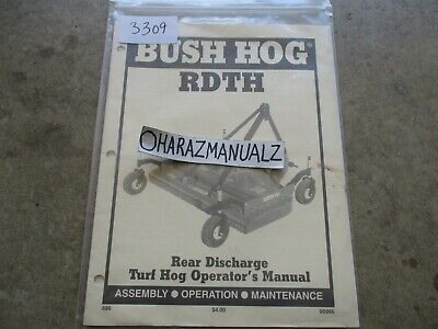 Bush Hog Rdth Rear Discharge Turf Hog Operators Manual
