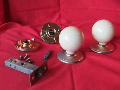 Gainsborough Door Knob Antique Vintage Style Porcelain Locking Privacy Hardware