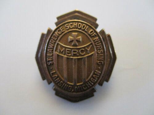 vintage 1944 St Lawrence School of Nursing Michigan Gold Fill Nurse Hospital Pin