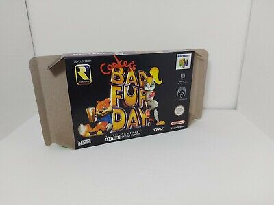 Nintendo 64 - Conker's Bad Fur Day - PAL - N64 - Only Box
