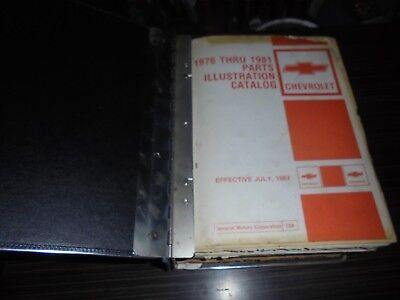 Chevrolet 1976-81 parts & illustrations book manual in Chevrolet Binder