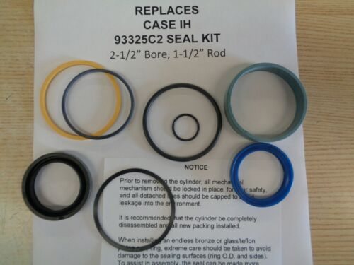 """93325C2 Case-IH replacement cylinder seal kit (2-1/2"""" bore with 1-1/2"""" Rod)"""