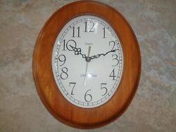 Vintage Seth Thomas Oval Wall Clock Quartz Movement USA - Pamela Model 2433-USA